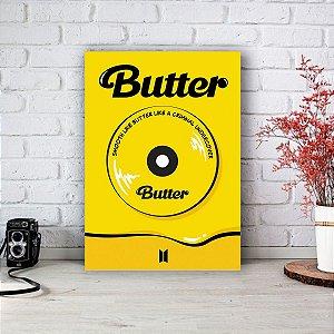 Quadro/Placa Decorativa Pôster Butter - BTS