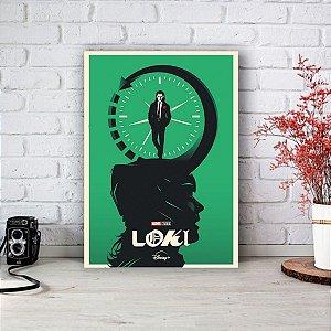 Quadro/Placa Decorativa Loki - Série Disney