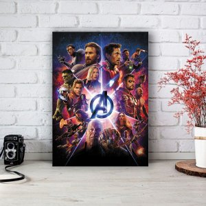 Quadro/Placa Decorativa Poster Vingadores