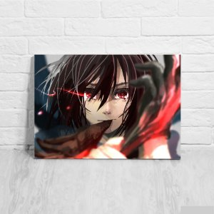 Placa Decorativa Mikasa Attack on Tintan