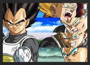 Quadro Vegeta Dragon Ball