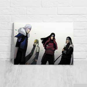 Placa Decorativa Hokages - Naruto