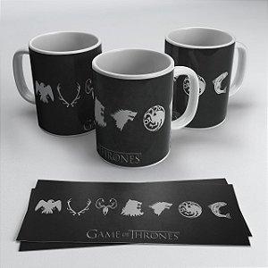 Caneca Casas Game of Thrones