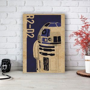 Placa Decorativa R2-D2 Star Wars