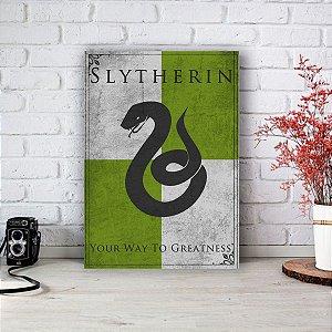 Placa Decorativa Slytherin - Sonserina Harry Potter