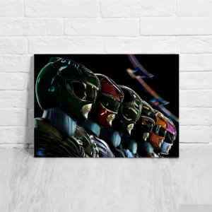 Placa Decorativa Power Rangers