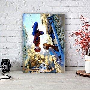 Quadro/Placa Decorativa Homem Aranha e Mary Jane