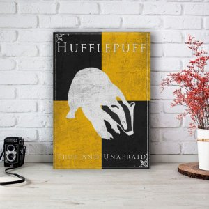 Placa Decorativa Hufflepuff - Lufa-Lufa Harry Potter