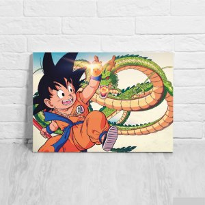 Quadro/Placa decorativa Goku e Shenlong - Dragon Ball