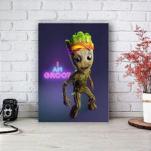 Placa Decorativa I am Groot