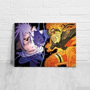 Placa Decorativa Naruto x Sasuke