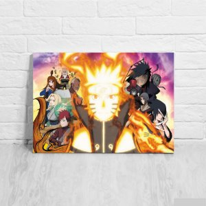 Placa Decorativa Naruto Guerra Ninja