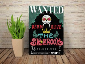 Placa Decorativa Procurado Brook - One Piece