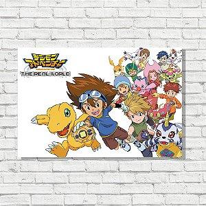 Placa Decorativa Digimon Adventure
