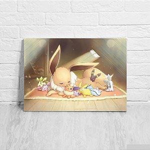 Quadro/Placa Decorativa Evee e Evoluções - Pokemon