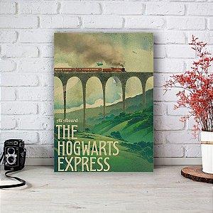 Quadro/Placa Decorativa Trem Hogwarts - Harry Potter