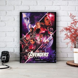 Quadro/Placa Decorativa Vingadores Ultimato