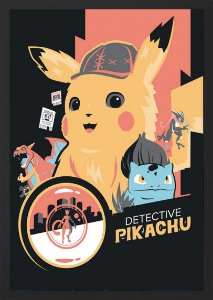QUADRO DETETIVE PIKACHU - POKEMON