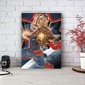 Quadro/Placa Decorativa Capitã Marvel