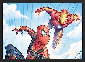 Quadro Homem de Ferro e Homem-Aranha