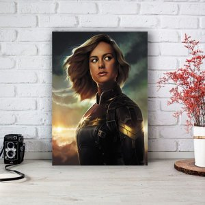 Quadro/Placa Decorativa Capitã Marvel - Carol Danvers