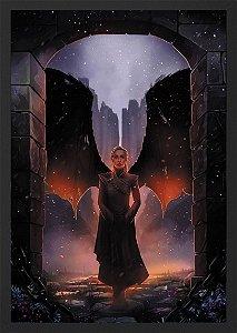 Quadro Daenerys Targaryen - Mãe de dragões - Game Of Thrones