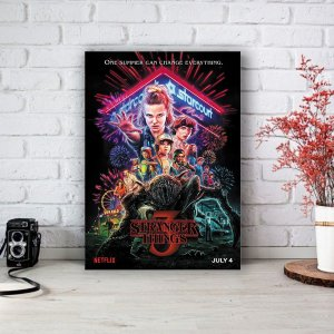 Quadro/Placa Decorativa Poster Stranger Things 3