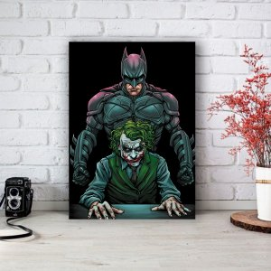 Quadro/Placa Decorativa Batman e Coringa
