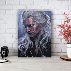 Quadro/Placa Decorativa Geralt (Henry Cavill) - The Witcher