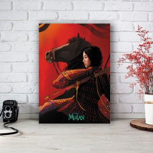 Quadro/Placa Decorativa Mulan - Live action Disney