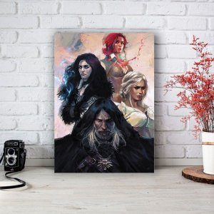 Quadro/Placa Decorativa The Witcher - Game
