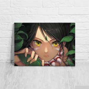 Quadro/Placa Decorativa Nidalee - League of Legends