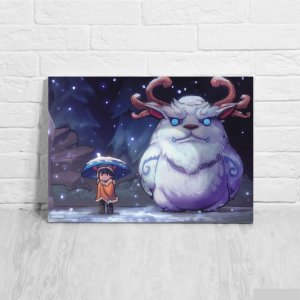 Quadro/Placa Decorativa Nunu e Willump - League of Legends