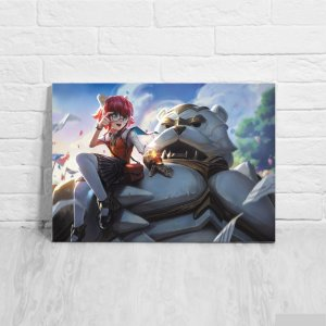 Quadro/Placa Decorativa Annie e Tibbers - League of Legends