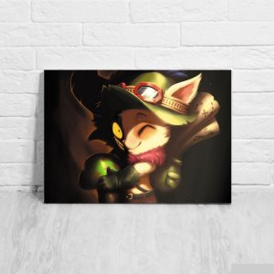 Quadro/Placa Decorativa Teemo - League of Legends