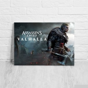 Quadro/Placa Decorativa Assassin's Creed Valhalla