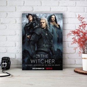Quadro/Placa Decorativa The Witcher - Banner Netflix
