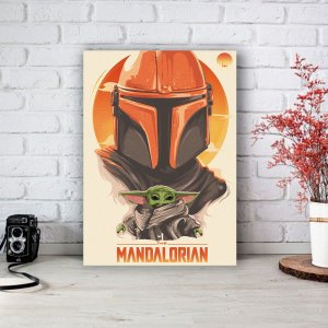 Quadro/Placa Decorativa The Mandalorian