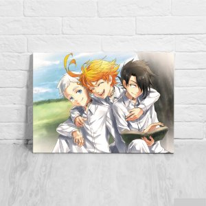 Quadro/Placa Decorativa Norman, Emma e Ray - The Promised Neverland