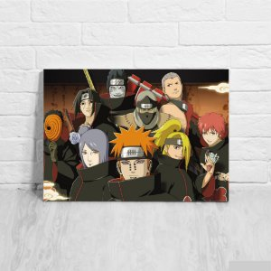 Quadro/Placa Decorativa Akatsuki - Naruto