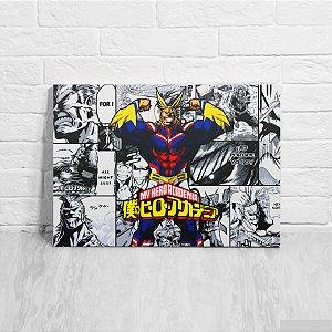 Quadro/Placa Decorativa All Might (fundo mangá) - Boku no Hero Academia