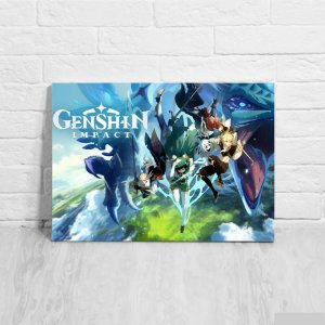 Quadro/Placa Decorativa Genshin Impact