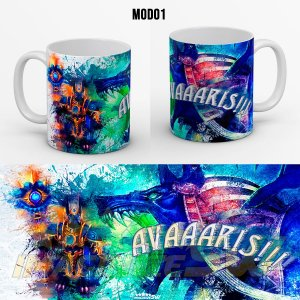 Caneca Personalizada Summoners War Avaris ( Anubis Water) - Nickname