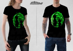 Camiseta Rick and Morty Portal Gun - Portal Dimensional - Rick and Morty Serie