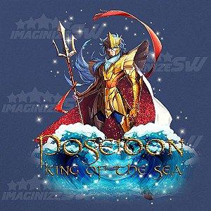 Camiseta Poseidon o Rei dos Mares Saint Seiya Awakening