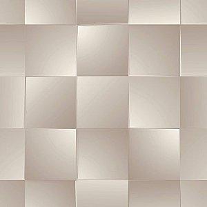 Papel de Parede Geométrico Quadrado 3D