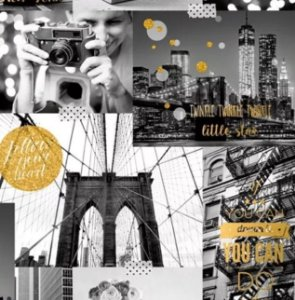 Papel de Parede Vintage Nova York (Francês)