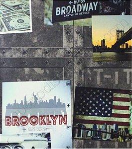 Papel de Parede Vintage Brooklin (Francês)