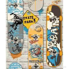 Papel de Parede Juvenil Skate (Francês)