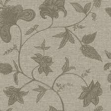 Papel de Parede Floral Palha